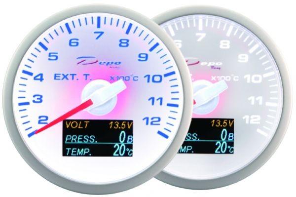 ZEGAR DEPO WBL 60mm - 4w1 Exhaust Temp, Volt, Oil Pressure, Temp - GRUBYGARAGE - Sklep Tuningowy